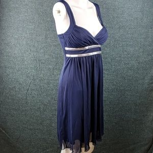 City Triangles Sweetheart Dress Navy & Silver